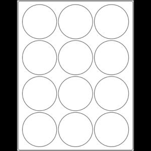 "2.5"" circle (12up) DIY FREEZER-Grade/Durable Sheet Labels"