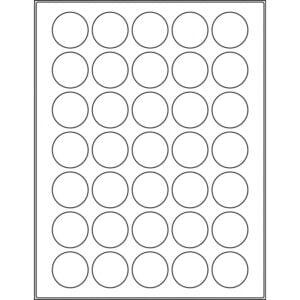 "1.3189"" circle (35up) DIY FREEZER-Grade/Durable Sheet Labels, LC-0131-035"