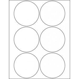 "3.5"" circle (6up) DIY FREEZER-Grade/Durable Sheet Labels, LC-0200-020"