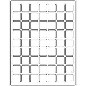 "1.0"" x 1.0"" (63up) DIY FREEZER-Grade/Durable Sheet Labels, LR-1010-063"