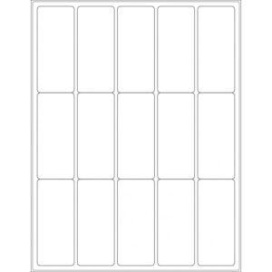 "1.5"" x 3.5"" (15up) DIY FREEZER-Grade/Durable Sheet Labels, LR-1535-015"