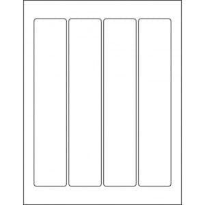 "1.75"" x 9.00"" (4up) DIY FREEZER-Grade/Durable Sheet Labels, LR-1790-004"