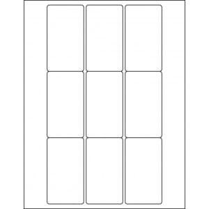 "1.9375"" x 3.5"" (9up) DIY FREEZER-Grade/Durable Sheet Labels, LR-1935-009"