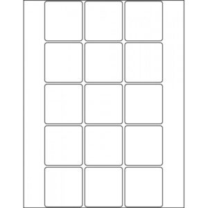 "2.0"" x 2.1"" (15up) DIY FREEZER-Grade/Durable Sheet Labels, LR-2021-015"