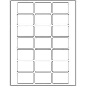 "2.125"" x 1.375"" (21up) DIY FREEZER-Grade/Durable Sheet Labels, LR-2113-021"