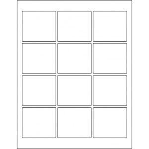 "2.5"" x 2.25"" (12up) DIY FREEZER-Grade/Durable Sheet Labels, LR-2522-012"