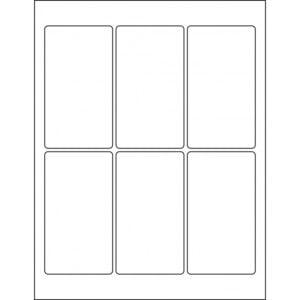 "2.5"" x 4.5"" (6up) DIY FREEZER-Grade/Durable Sheet Labels, LR-2545-006"