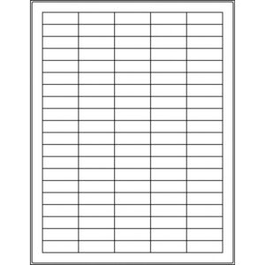 "1.5"" x 0.5"" (100up) DIY FREEZER-Grade/Durable Sheet Labels, LS-1505-100"