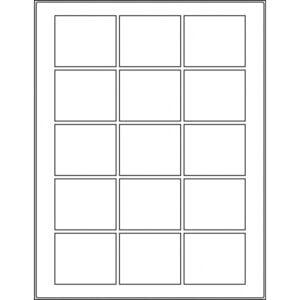 "2.25"" x 1.875"" (15up) DIY FREEZER-Grade/Durable Sheet Labels, LS-2218-015"